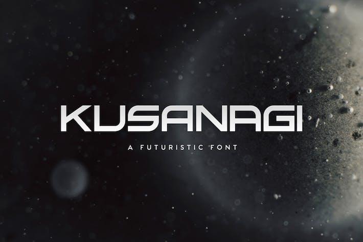 Thumbnail for Kusanagi - Futuristic Font