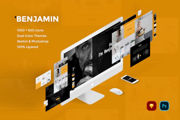 Thumbnail for Benjamin Creative Website UI Kit