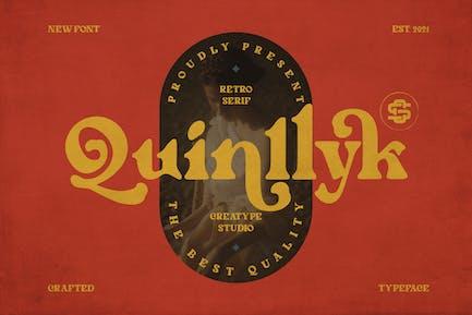 Con serifa Retro Quinlliyk