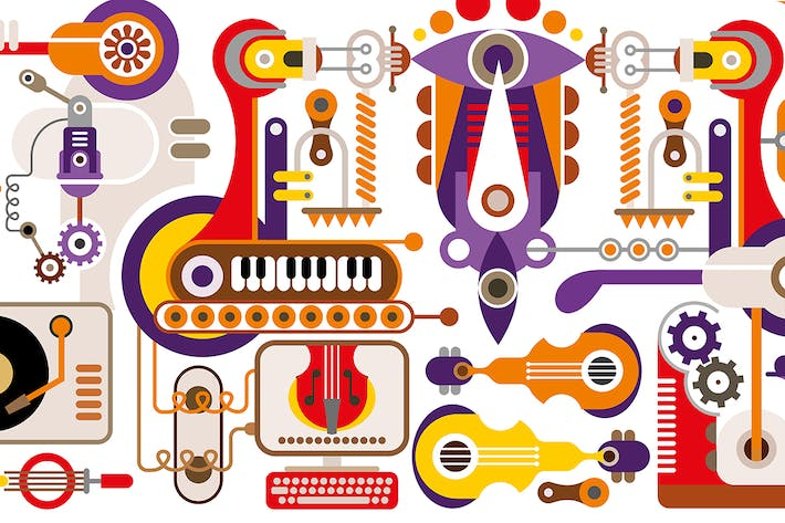 Thumbnail for Manufacture of musical instruments vector artwork