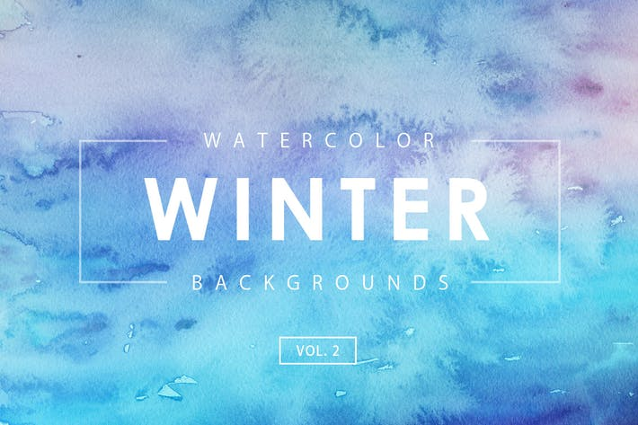 Cover Image For Winter Watercolor Backgrounds 2