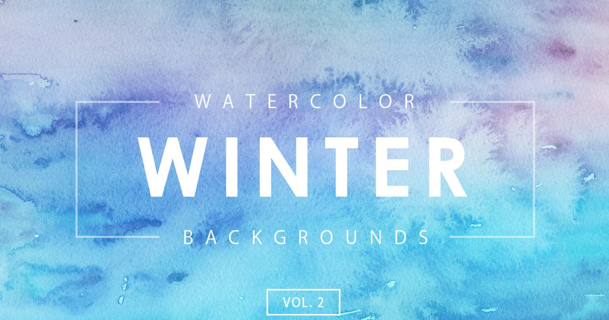 Download Winter Watercolor Backgrounds 2 by M-e-f