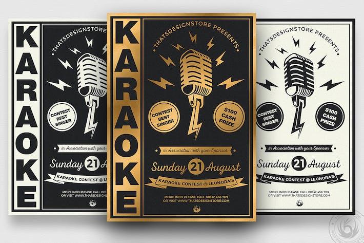Thumbnail for Karaoke Flyer Template V3