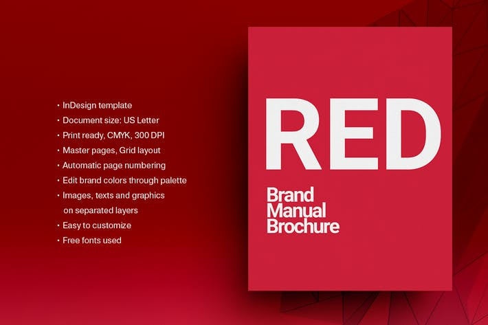 Cover Image For Red Brand Guidelines Layout