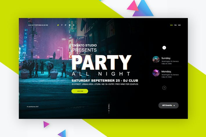 Event Website Design Inspiration Featured Slider By