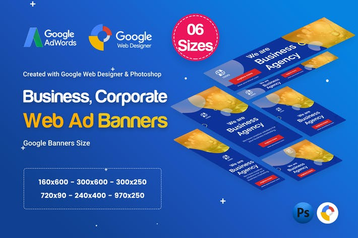 Thumbnail for Business Agency Banners Ad D28 - GWD