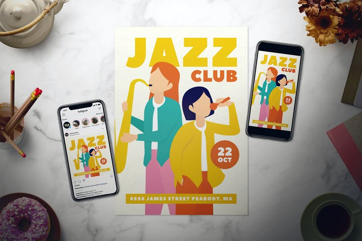 Thumbnail for Jazz Flyer Set