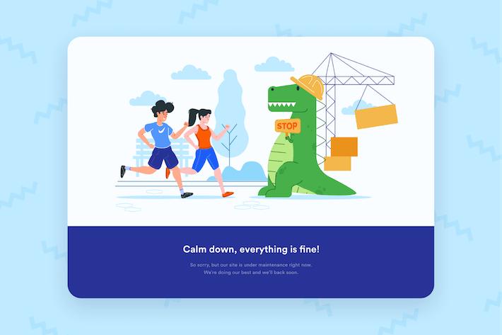 Thumbnail for Maintenance Page Desktop Illustration