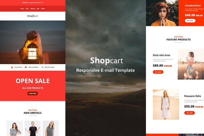 Thumbnail for Shopcart - 35+ Modules Modules E-mail Templates