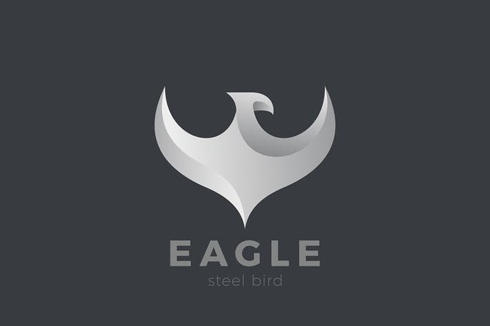 Thumbnail for Eagle Falcon Flying Bird Metal design