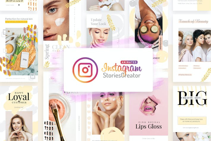 Download 8 instagram templates envato elements thumbnail for animated instagram stories creator powerpoint toneelgroepblik Choice Image