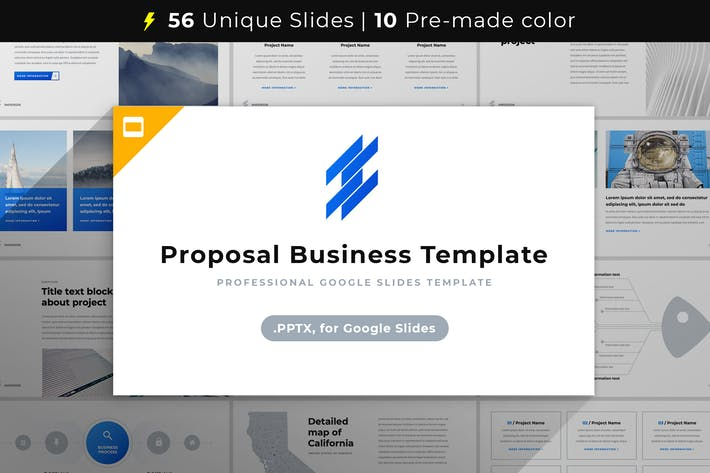 Cover Image For Proposal Business Template Google Slides