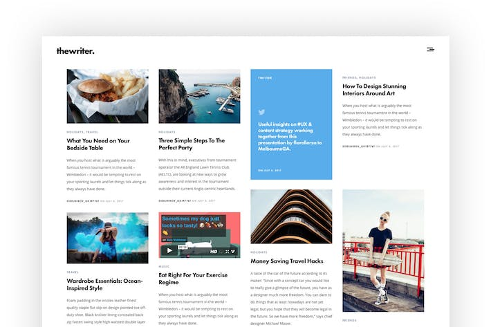 Thumbnail for The Writer - Modern WordPress Blog Theme