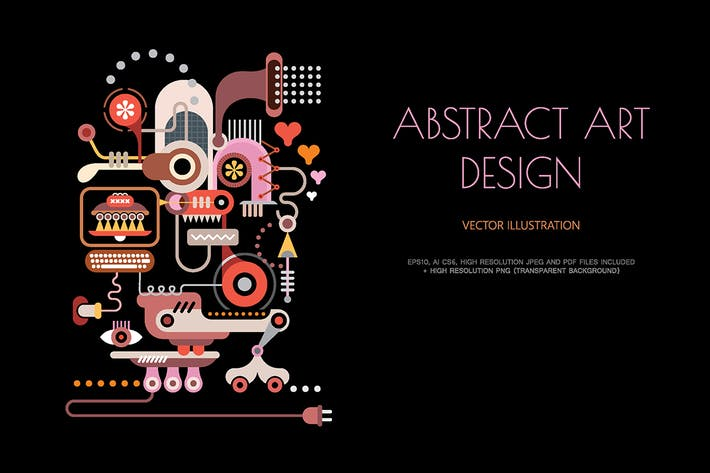 Cover Image For Electric Equipment abstract vector illustration