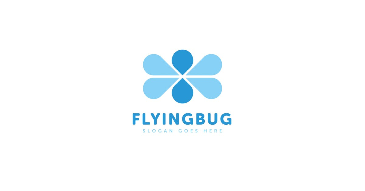 Download Flying Bug Logo Vector Template by Pixasquare