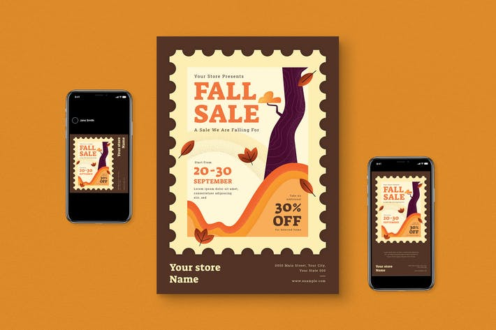 Thumbnail for Fall Sale Flyer Pack