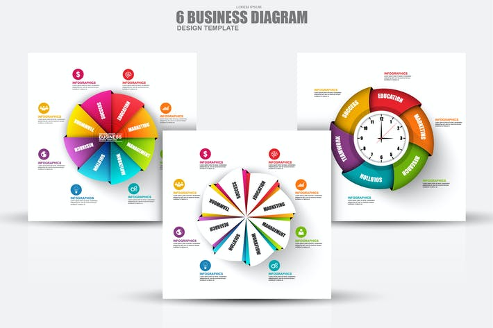 Thumbnail for Abstract 3D Business Diagram Infographics