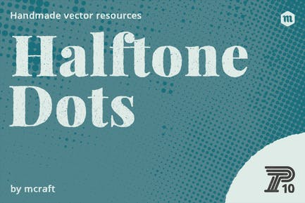 Halftone Dots Texture Pack Background