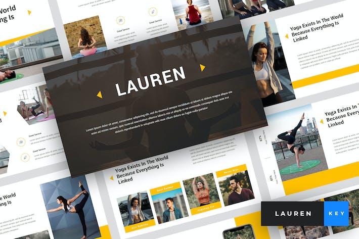 Thumbnail for Lauren - Yoga Keynote Template
