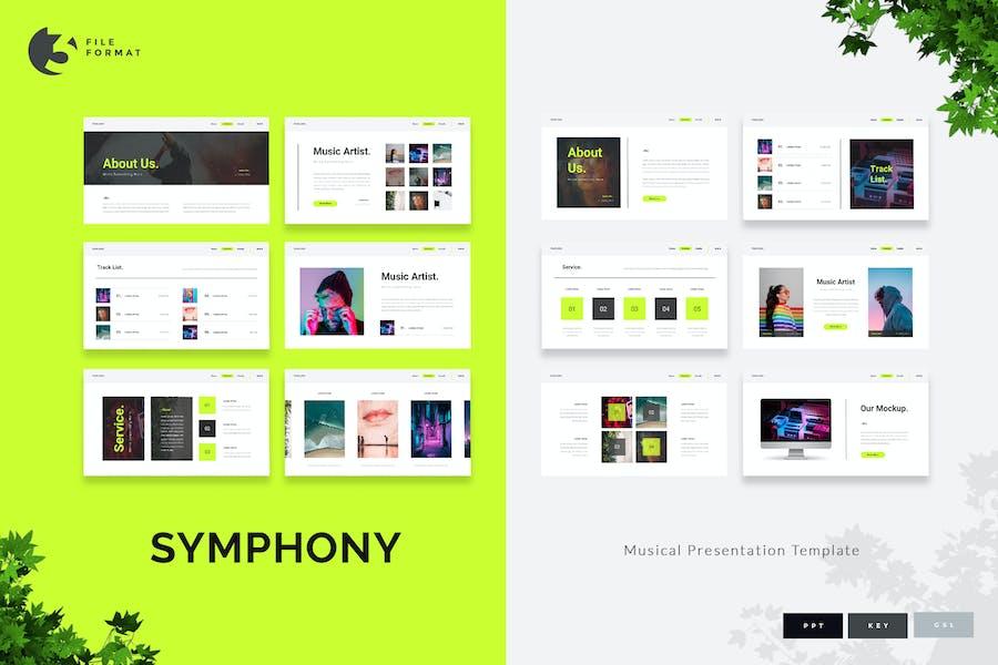 Symphony - Musical Presentation Template
