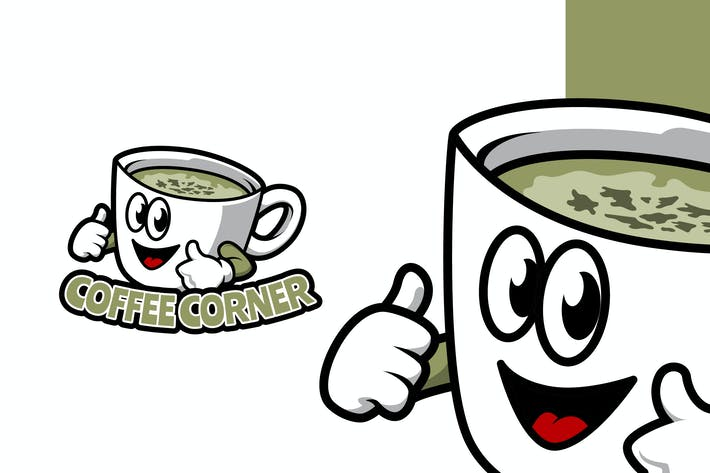 Thumbnail for Coffee Corner - Mascot Logo Template