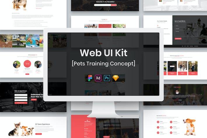 Thumbnail for Pets Training Web UI Kit