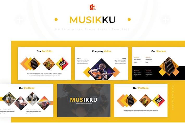 Thumbnail for Musikku - Powerpoint Template