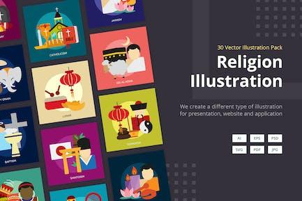 Illustration Vecteur Religion et Célébrations