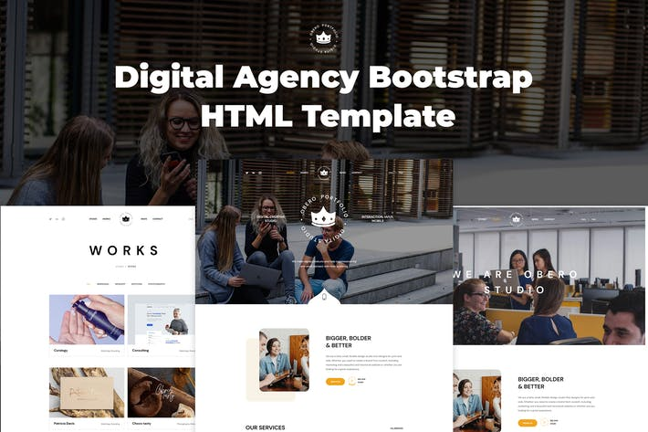 Thumbnail for Obero - Digital Agency Bootstrap HTML Template