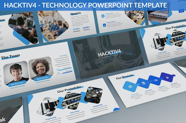 Cover Image For Hacktiv4 - Technology Powerpoint Template