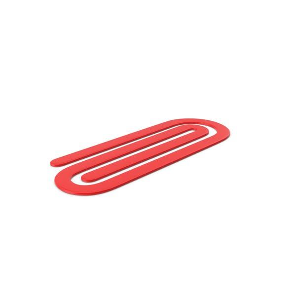 Пластиковая скрепка Красный