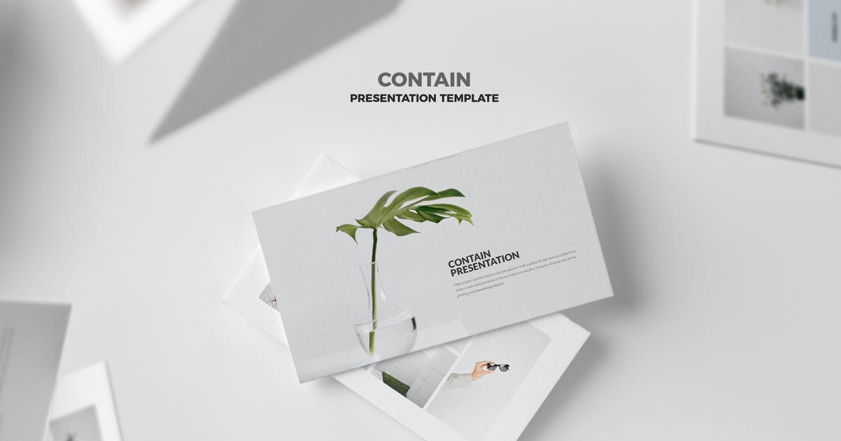 Download Contain : Simple & Minimal Business Keynote by punkl