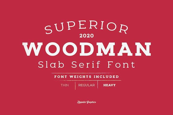 Thumbnail for Woodman Slab Serif Font