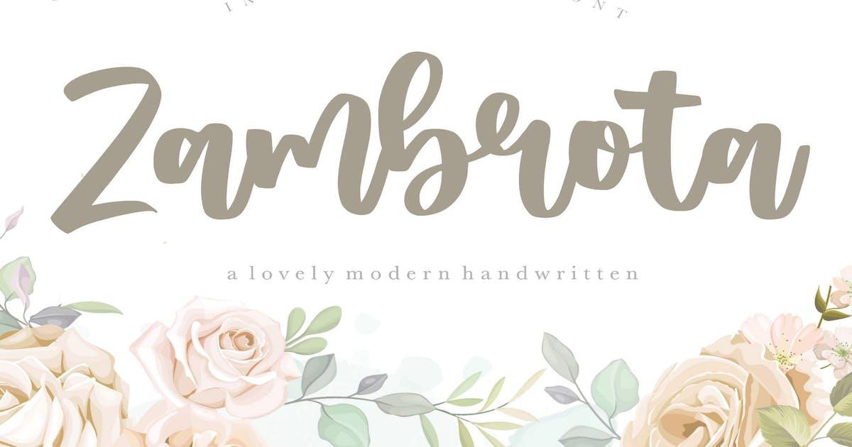 Download Zambrota Calligraphy Font YH by GranzCreative