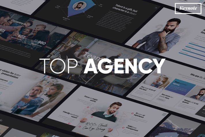 Thumbnail for TOP AGENCY - Professional Keynote Template