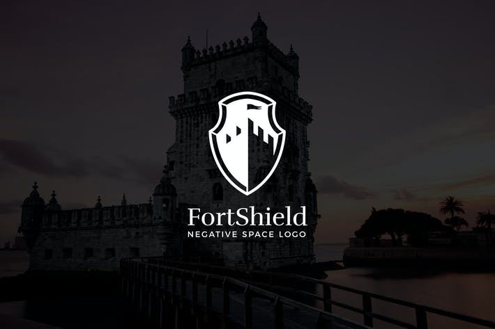 Thumbnail for Fortshield: Negatives Space Castle Logo