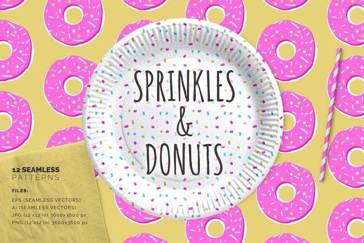 Thumbnail for Sprinkles & Donuts Patterns