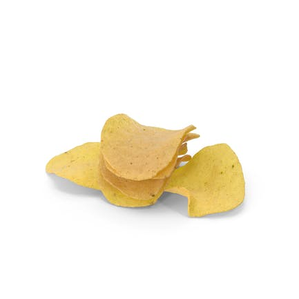 Маленькая куча картофельных чипсов