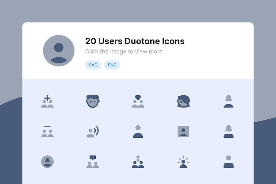 Иконки дуотона пользователя