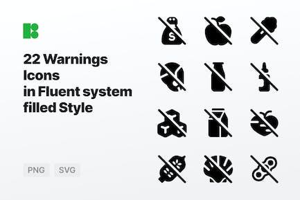 Fluent system filled - Warnings