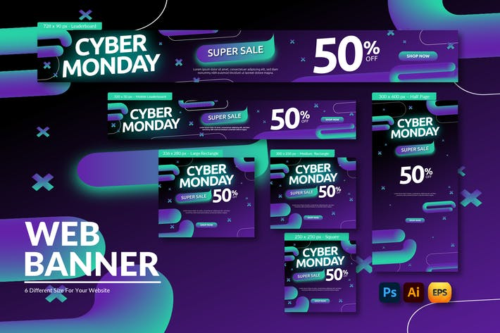 Cyber Monday Discount | Web Banner