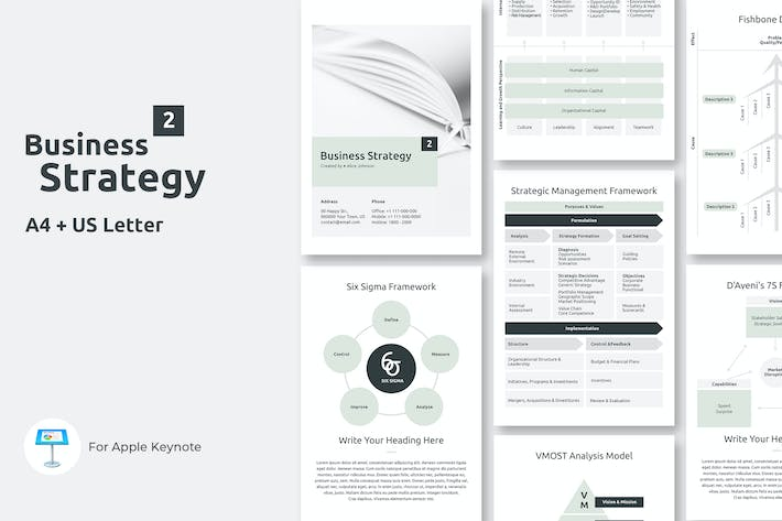 Thumbnail for Vertical Business Strategy Two Keynote Template