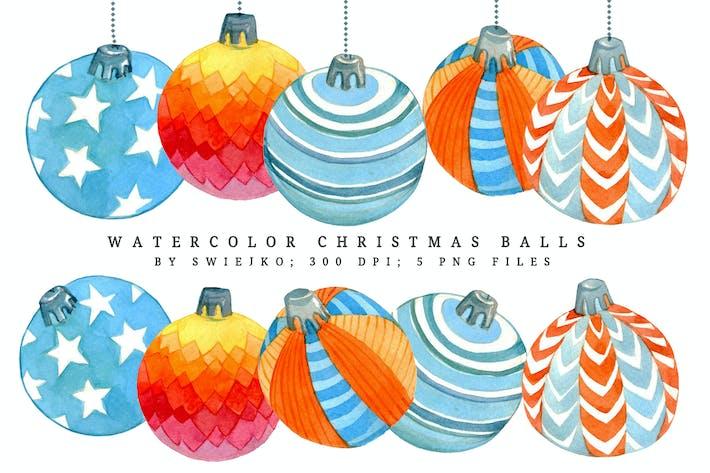 Thumbnail for Watercolor Christmas balls II