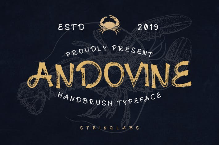 Thumbnail for Andovine - Handbrush Font