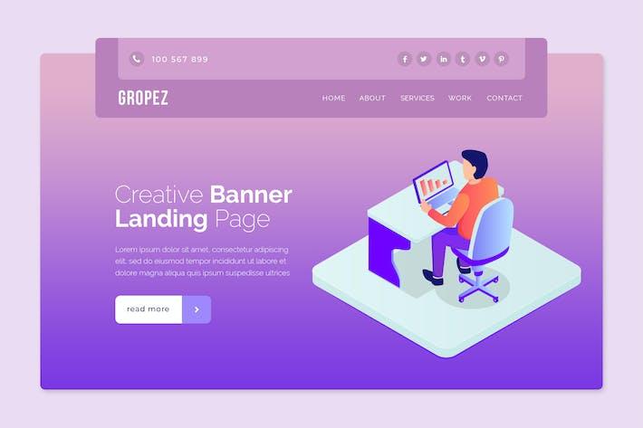 Thumbnail for Gropez - Hero Banner Template