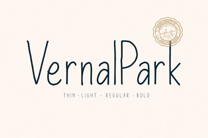 Thumbnail for Vernal Park Font Family