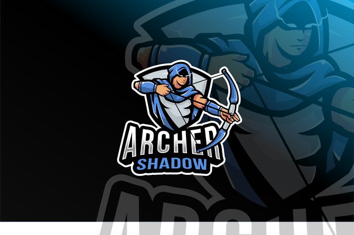 Thumbnail for Plantillas de logotipos Archer Shadow Esport