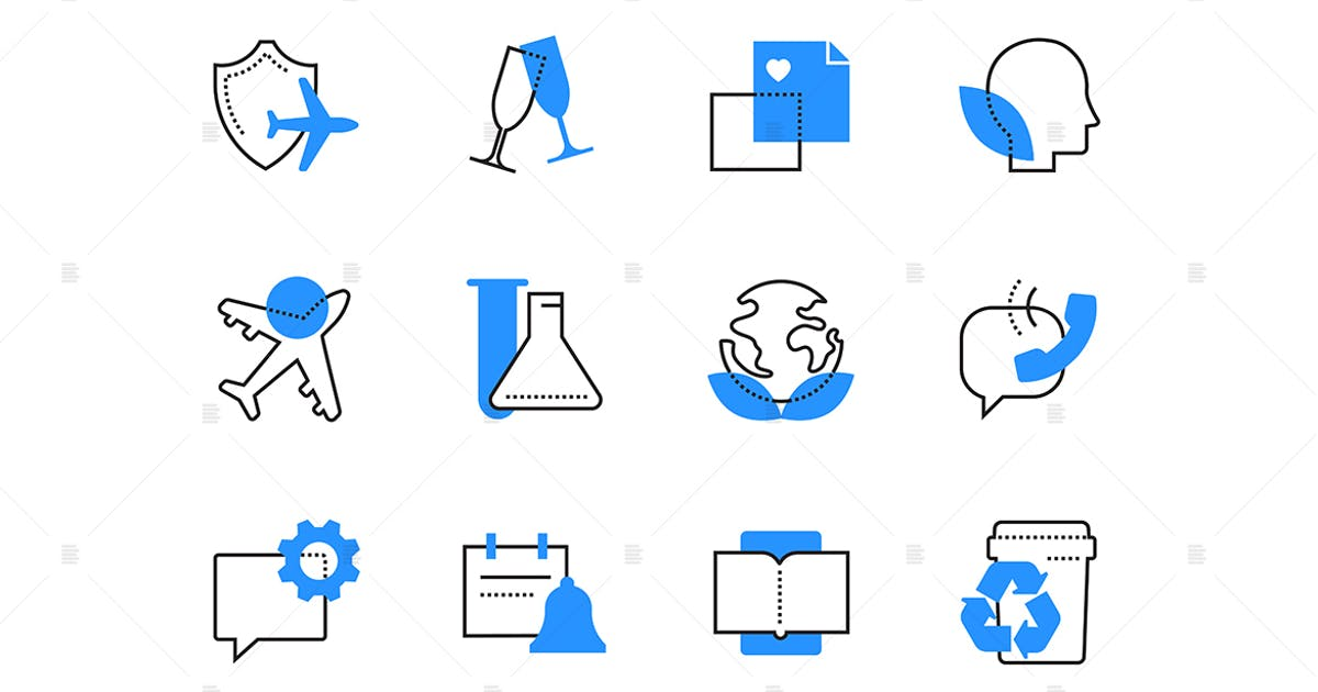 Download Ecology and communication color icons set by BoykoPictures