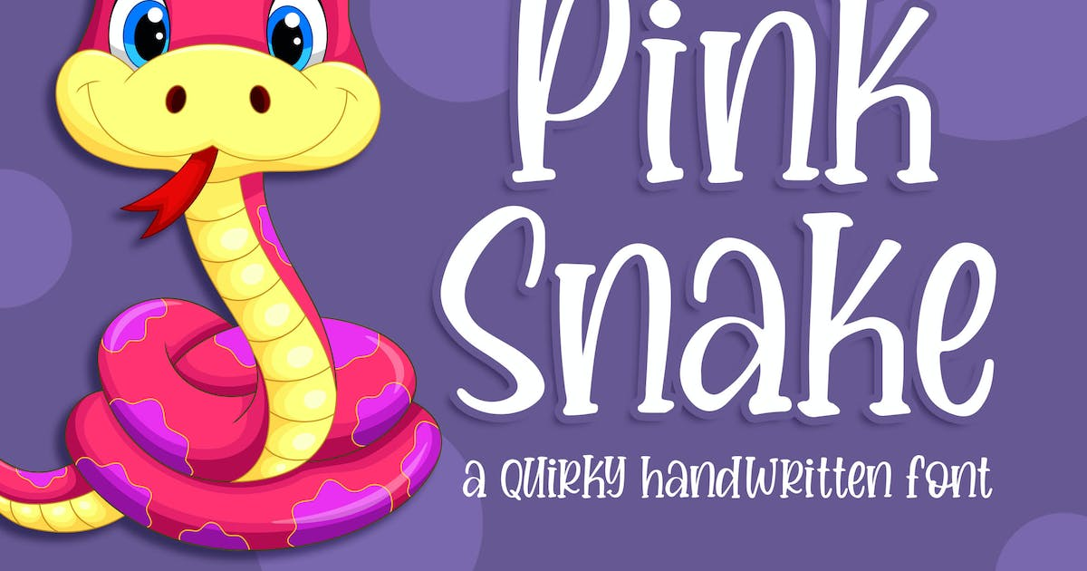 Download Pink Snake - a Quirky Handwritten Font by Blankids