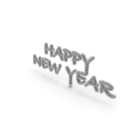 Silver Tree Symbol Happy New Year